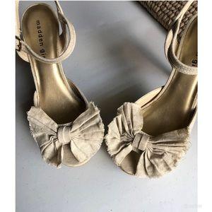Madden Girl heels w/ bow detail